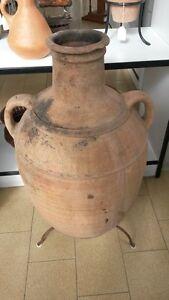Antica Originale Anfora Brocca Olio VINO in TERRACOTTA fine '800 sud-italia
