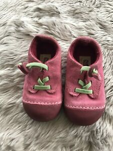 Sinple Planet for a Happy Planet Pink Suede Non Marking Shoes Toddler Girls 6