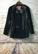 Women's Coat Size Small Vegan Leather Tweed Blend Collection By BERNARDO