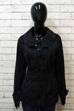 MONCLER NERINE Donna Cappotto Blu Giacca Taglia 3 Jacket Woman Cintura Autentica