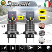 2X H7 110W LED Faro Headlight Kit Power Lampadine Canbus free 26000LM DRL HID