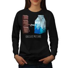 Wellcoda Chocolate Milkshake Womens Sweatshirt, Hands Casual Pullover Jumper