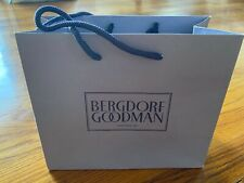 "Bergdorf Goodman Empty Paper Shopping Gift Bag 9"" x 7.5"" x 4� Small Euc"
