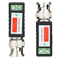 2x Coax CAT5 CCTV Camera Passive BNC Video Balun to UTP Connector Transceiver SK