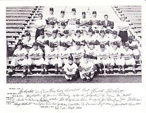 1959 LOS ANGELES DODGERS 8X10 TEAM PHOTO BASEBALL LA WORLD SERIES CHAMPS