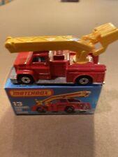 "Matchbox 13 Snorkel Fire Engine 1977  ""New in Box"""