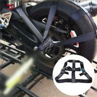 Schwarz Motorrad Hinterrad Befestigungsgurte Rad Halterung Transport Riemen 1x