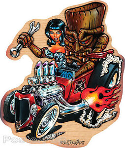 Tiki Rod STICKER Decal Hot Rod Art Von Franco VF42 Roth Like