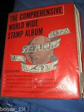The Comprehensive World Wide Stamp Album with many stamps