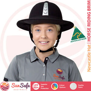 Horse Riding Helmet Brim Equestrian Australian Made Newcastle Hats UPF 50+ Brim