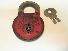 Vintage Power Level Padlock With Key Collectible Hardware Good Condition !