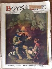 Boys Life Feb.1931 Norman Rockwell Cover