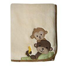 Curly Tails Baby Blanket Monkey Lambs & Ivy Bedtime Originals Soft Cozy Fleece