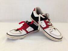 DC Men's White Red Black Lace Up Skate Shoe Skateboarding Size 5