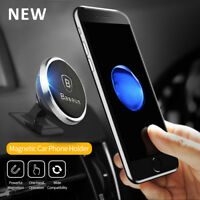 Baseus Universal Magnetic Mount Car holder For iPhone 8 Plus 6s 7 Samsung S8 Lot