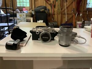 OLYMPUS PEN-F Body Silver with 14-42 and 40-150 Zooms