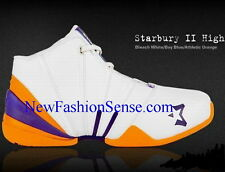 New Authentic Starbury 2 White Blue Orange High Top Basketball Shoes Size 7.5