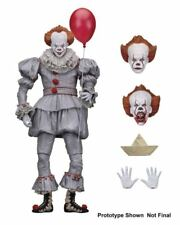 """Ultimate Pennywise Scale Sction Figure (NECA) Halloween 7"""" IT Model Movie Toy"""