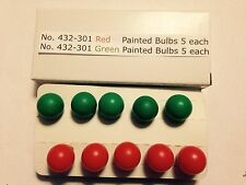 5 Red & 5 Green Bulbs for Lionel 022 Controller Ten total free ship!