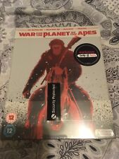EXCLUSIVE WAR FOR THE PLANET OF THE APES ULTRA 4K 3D & BLU RAY SEALED STEELBOOK