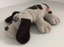 "Vintage Tonka Pound Puppy Plush 8"" Gray Brown Spots Brown Floppy Ears"