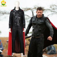 Avengers Infinity War Thor Cosplay Costume Full Suit Halloween Outfit for Men