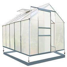 ZELSIUS Gewächshaus 6 mm Verglasung Aluminium ca. 5,90 m² mit Fundament NEU