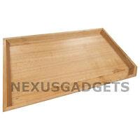 Mira Serving Tray Maple Wood Rectangular Corner Cut 16x10x1 Inches, Small, New