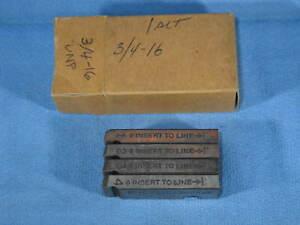 "Set of Genuine RIDGID 500B 3/4""-16 UNF RH HS Bolt Dies in Box #48725 - NEW"
