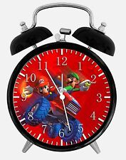 "Super Mario Luigi Alarm Desk Clock 3.75"" Home or Office Decor W214 Nice For Gift"