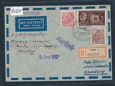 80230) LH FF ? Bagdad - Wien - Hamburg 19.4.57, Reco ab DDR