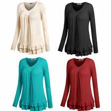 Rayon Tunic Solid Tops for Women