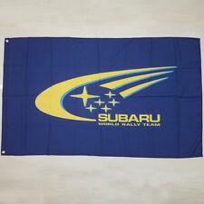 NEW Flag car racing flag For exhibition subaru Flag 3x5FT free shipping Blue