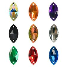 Navette Sew on Rhinestones Assoreted Color Strass Crystal Horse Eye Stones Craft
