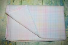 "Gerber Pastel Plaid Very Soft Fleece Baby Blanket 38"" x 30"" Ultra Soft!"