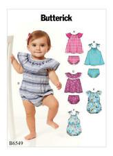 Butterick Pattern B6549 Infants Romper, Dress And Panties By Spotlight