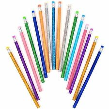 16 x HB Matite Glitter in Gomma per Scrittura Disegno Art Eraser Scuola per Bambini
