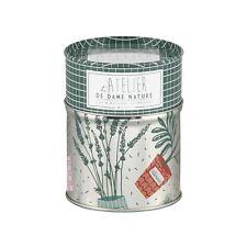 Boîte Pot à Bâtonnets Cotons Tiges  Dame Nature en Métal  DLP Derrière La Porte