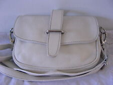 Fab Roots Canada White Leather Shoulder Bag Purse d418caa048f4c