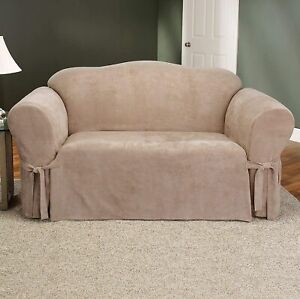 Sure Fit Soft Suede 1-Piece - Loveseat Slipcover