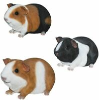 Guinea Pig - Lifelike Ornament Gift - Indoor Garden Pet Pals 3 Colours NEW