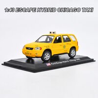1:43 Ford ESCAPE HYBRID CHICAGO TAXI Diecast Model Car Collection Toy With Case