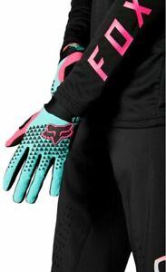 Fox Bike Park Defend Gloves Teal - Full Finger Mountain Bike Enduro Downhill MTB