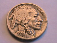 1921-P Buffalo Nickel Ch VF Very Fine Nice Original Indian Head 5 Cent US Coin