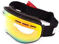 BLOC Ski Goggles low light MOON 3 medium large Matt Black with Red Mirror MT02