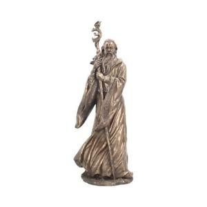 MERLIN Large 47cm Nemesis Now Statue Wizard Magical King Arthur Bronzed FREE P+P