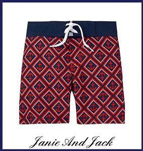Janie And Jack Anchor Swim Trunks