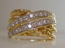 $5600 DAVID YURMAN 18K SOLID GOLD CROSSOVER DIAMOND RING