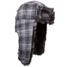509 Trapper Warm Faux Fur Hat With Ear Flaps Adult One Size - Black