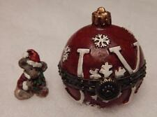 Boyds Treasure Box, Joy'S Christmas Ornament With Spruce Mcnibble